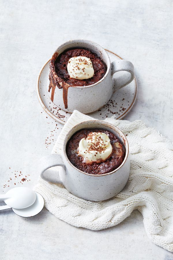 Choc Ripple Mug Cakes In 2020 Mug Cake Australian Food Australian Biscuit Recipe