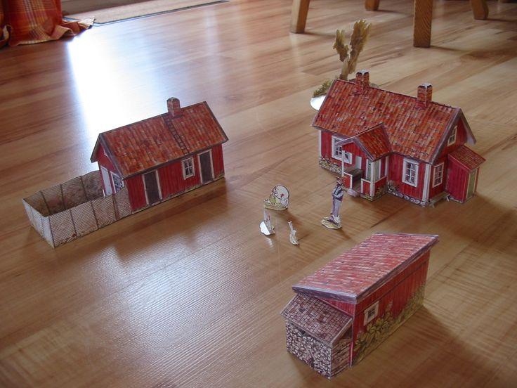 Bei Pettersson und Findus Zuhause - Architecture Gallery - Kartonbau.de - Alles rund um Papiermodelle, Kartonmodellbau und Bastelbogen