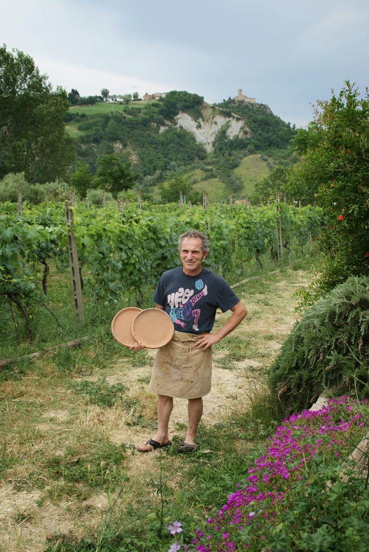 Teglie making in Montetiff Italy