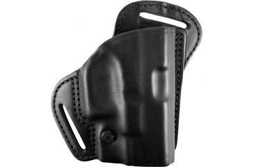 The BlackHawk Leather Check-Six Holster gives you options, comfort and speed, whether it is located behind the back or just behind the hip. The contour double-stitched premium leather on this BlackHawk Holster has a molded sight track, adjustable tension screw and dual belt slots designed to pull the gun tight to your body. Cut to provide a combat grip from the start, this gun holster gives you outstanding concealment, even when your covering garment is open.