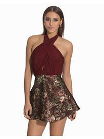 Wrap Skater Dress - John Zack - Red - Party Dresses - Clothing - Women - Nelly.com