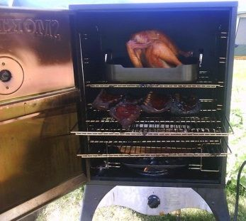 """The Camp Chef Smoke Vault 24"""" is the larger of their two vertical gas smokers. Many gas smokers have limited temperature range and can't get down and hold low and slow temps of 225⁰. But Smoke Vault can be dialed down to 160⁰ and cranked up to 500⁰! Verti"""