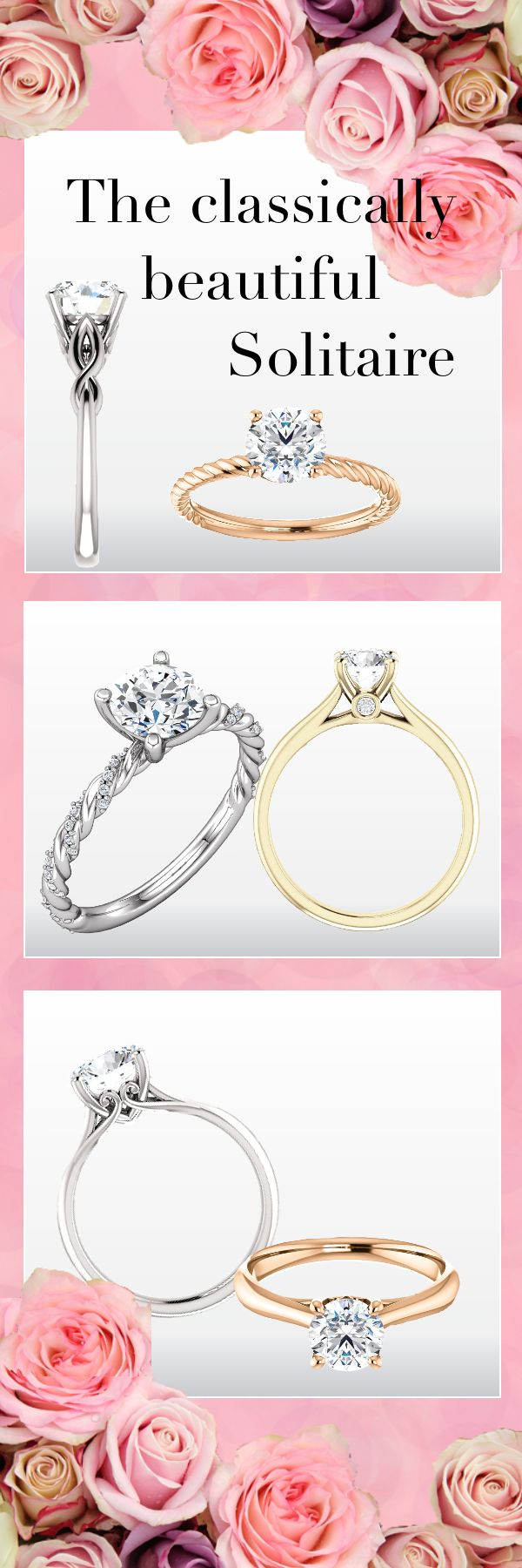 LARACI Ethical Engagement Rings. 100% Conflict Free Moissanite Engagement Rings Recycled Meta. Solitaire Engagement Rings