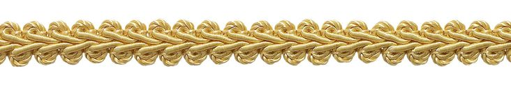 """10 Yard Value Pack of 1/2"""" Basic Trim French Gimp Braid, Style# FGS Color: LIGHT GOLD - B7 (30 Ft. / 9.5 Meters)"""