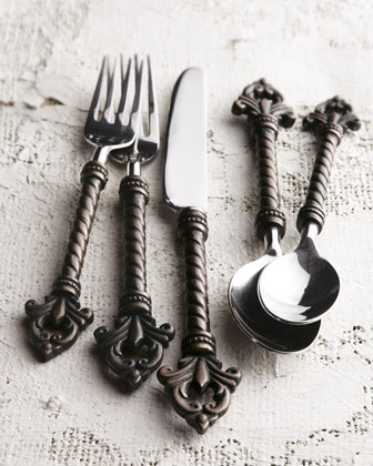 "LOVE.  Still part of the GG Collection ""Fleur-de-Lis"" Flatware - Neiman Marcus"