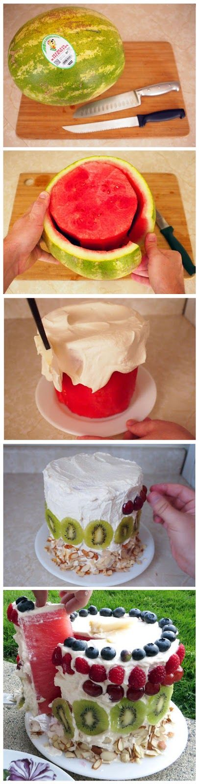 Watermelon Cake! Super yummy and good! Easy too ! Great for summer!
