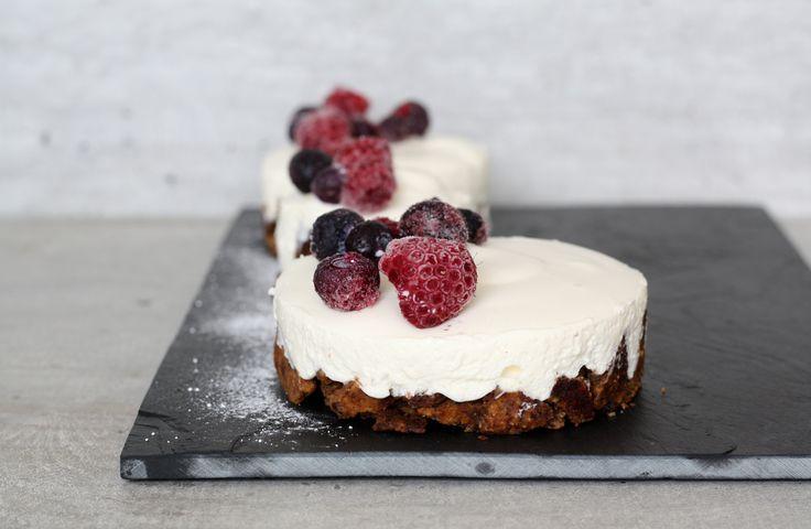 Creamy taartjes met crunchy bodem!