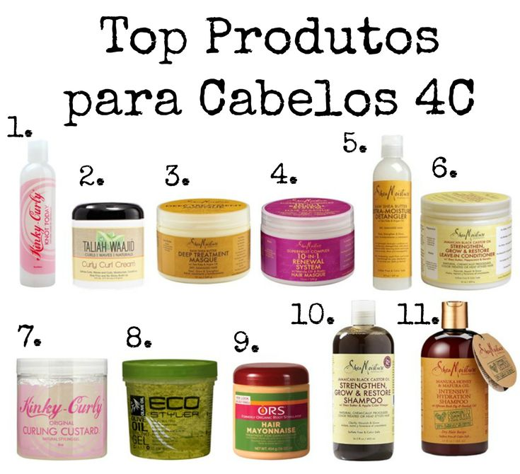 Top Produtos para Cabelo tipo 4C (Natural, Crespo, Afro, Transição)