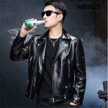 Uomini Genuine Leather Jacket 2017 Fashion Brand Design Casual Slim Biker Moto Jaquetas De Couro Inverno Derma Giacca di Pelle(China (Mainland))