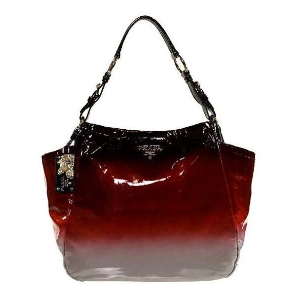 Prada Vernice Ombre Shopper Tote - Polyvore | Hand me my bag ...