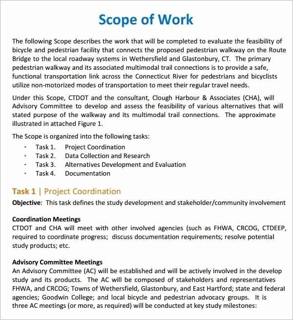 Simple Statement Of Work Template Inspirational 7 Construction Scope Of Work Templates Word Excel Pdf Statement Of Work Work Proposal Word Template