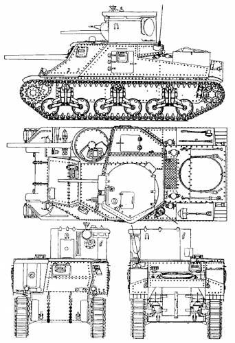us m3 lee medium tank cdl drawing