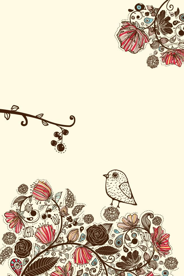 Cute bird. iPhone wallpaper