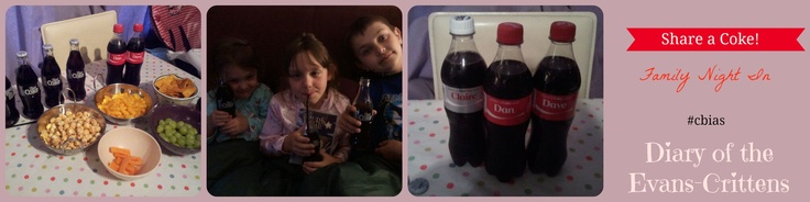 Diary of the Evans-Crittens Share a Coke Family Night In http://www.evans-crittens.com/2013/06/family-night-sharing-coca-cola-shop.html