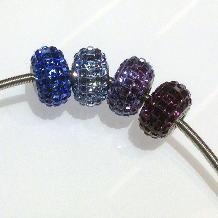 Swarovski Becharmed Pavé beads - blues