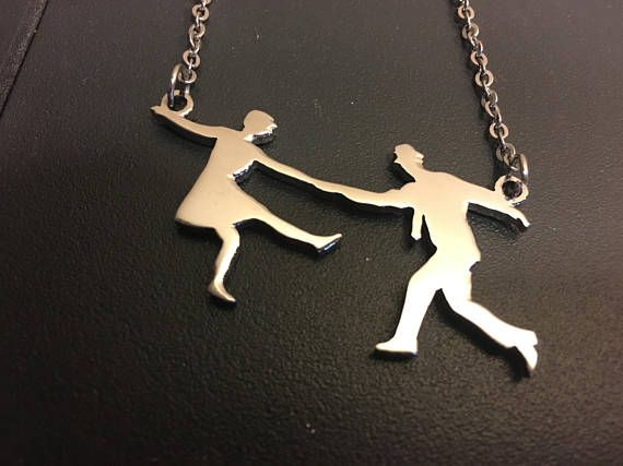 LINDY / SWING DANCE Necklace Couples Fig. #2  Necklace silver chain fashion jewelry swing dance accessories