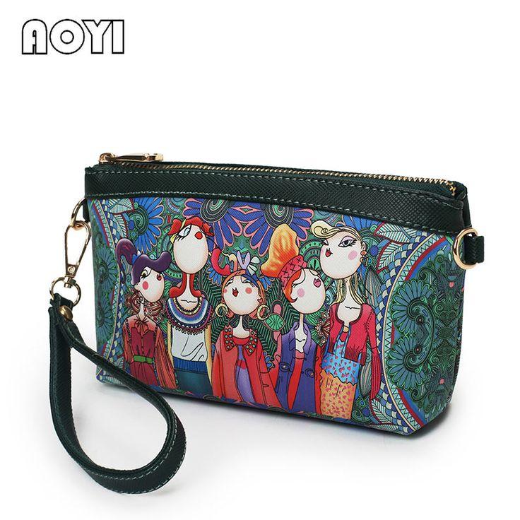 AOYI Character Messenger Bag PU Female Bag  Female Mini Shoulder Strap Woman Handbag Bolsas Femininas Bolsas De Marcas Famosas