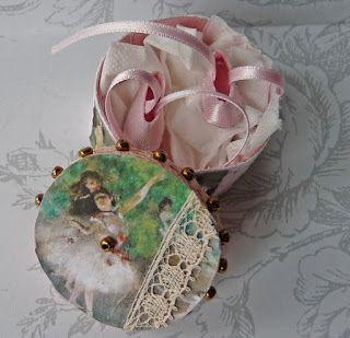 All+about+dollhouses+and+miniatures:+Balletschoenen+en+een+romantische+doos+gemaakt+voo...