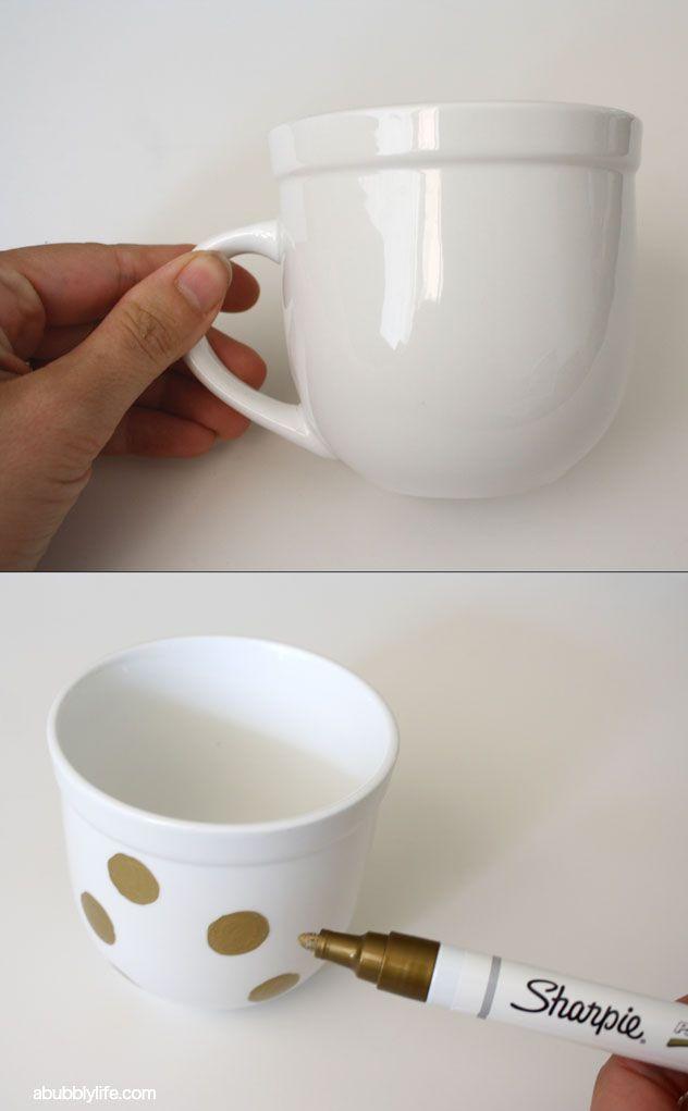 how to make custom coffee mugs with sharpie