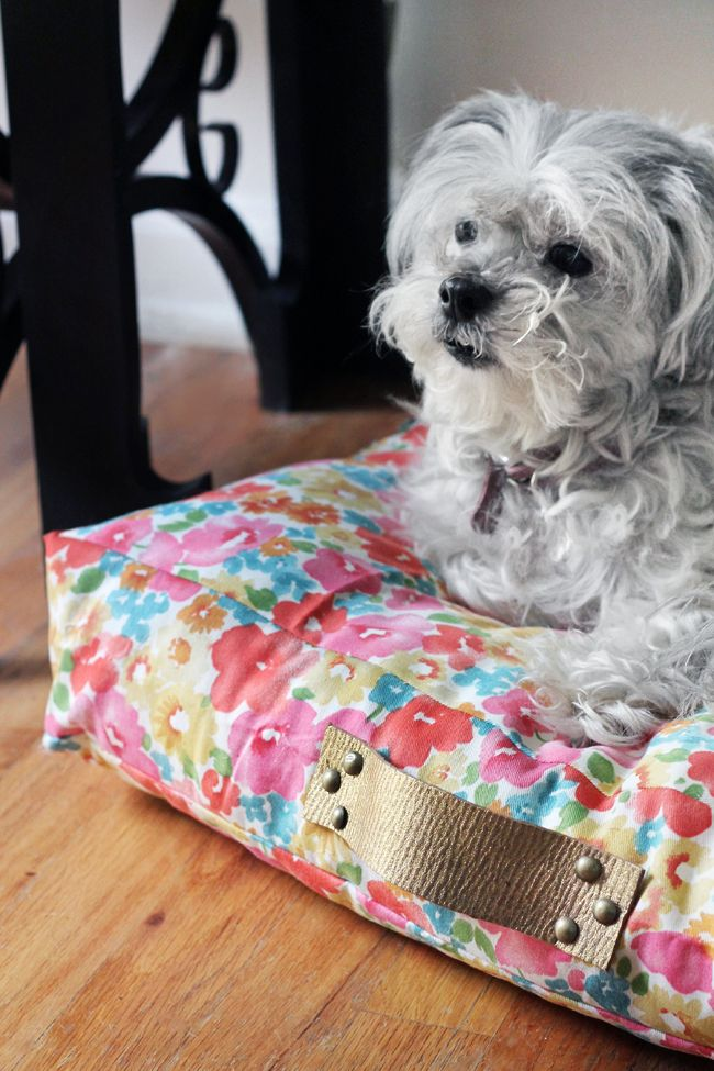 Love this dog bed @Kristin Jackson | the Hunted Interior created out of @Waverly fabric