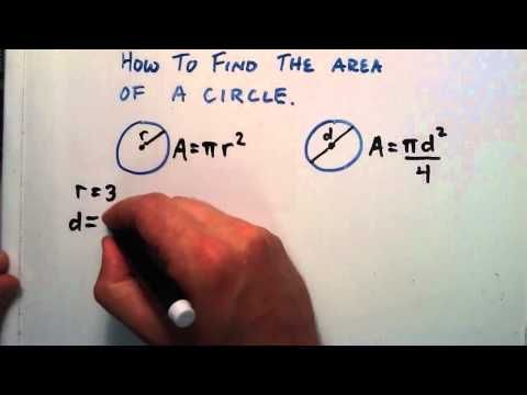 How to Find the Area of a Circle, Given a Radius or a Diameter.
