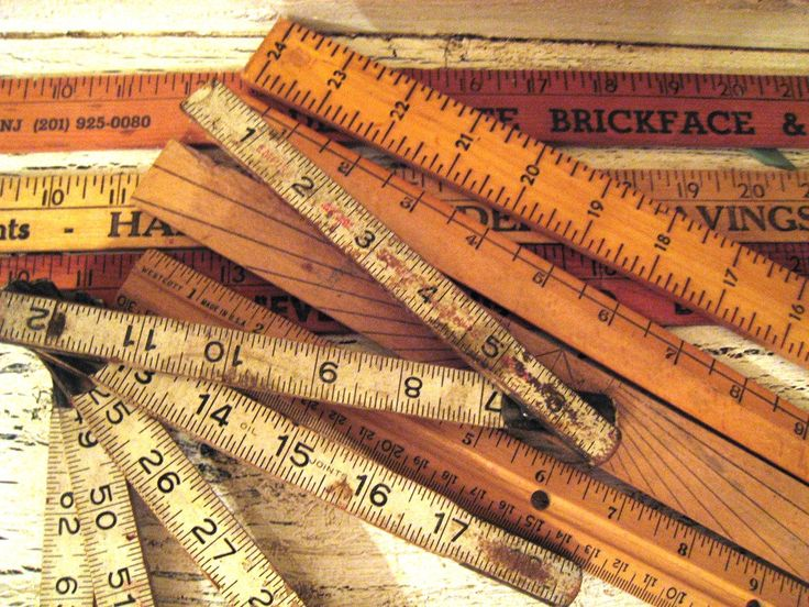 8 Vintage Wooden Rulers & Yardsticks  Assorted sizes  Thebeezkneezvintage on Etsy