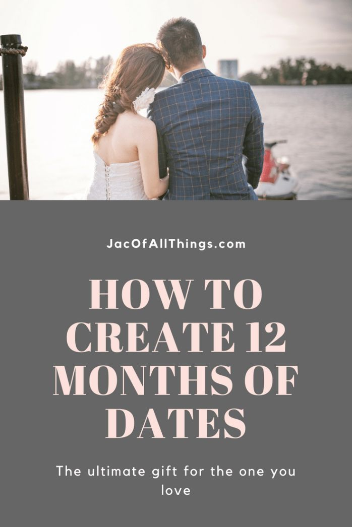 Looking for the perfect gift for your loved one? This is the perfect date night gift idea. Read more to learn how to create 12 months of dates. Great for Valentine's Day, Anniversary, or Birthday!