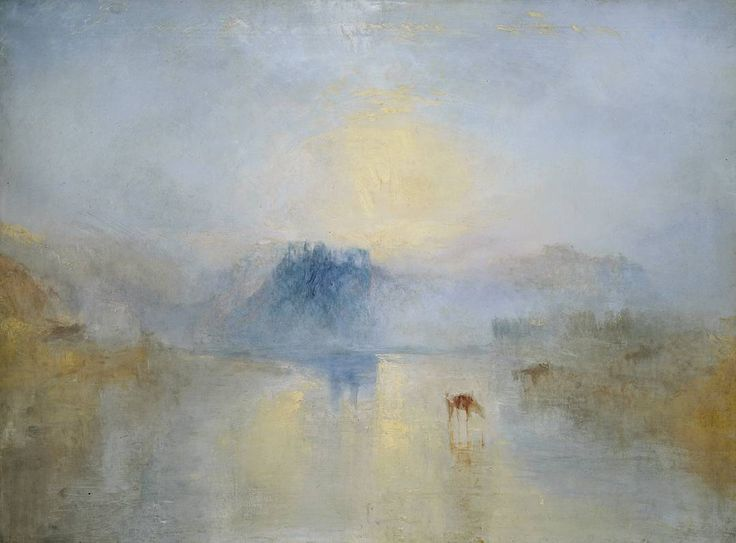 Joseph Mallord William Turner: Norham Castle, Sunrise, c.1845.