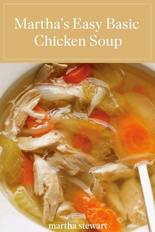 Basic Chicken Soup Recipe Recipe Basic Chicken Soup Recipe Chicken Soup Recipes Soup Recipes