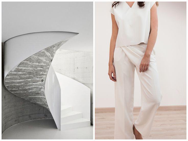 Inspiration behind Elena Ciuprina Spring 2015 collection. Le Corbusier architecture.