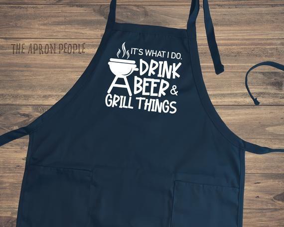 Vintage Grill Master Men/'s Onesize Apron  Summer BBQ Grilling Season Chef  Gift for Dad Husband Boyfriend
