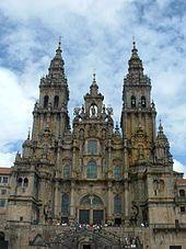 Santiago de Compostela Cathedral, A Coruña; terminus of the Way of St. James