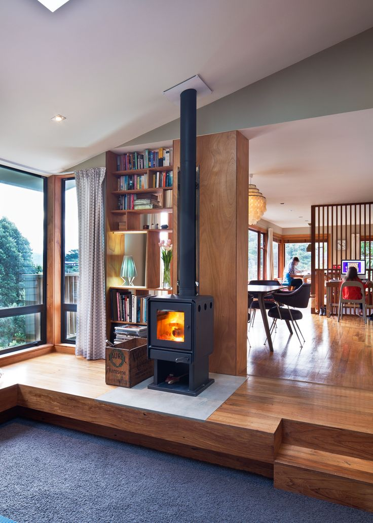 Contemporary living. Bosca Limit 380 #woodfire #fire #fireplace
