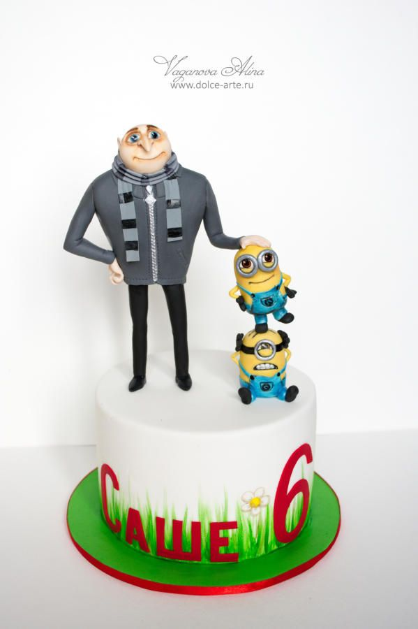 Gru and minions cake - Cake by Alina Vaganova