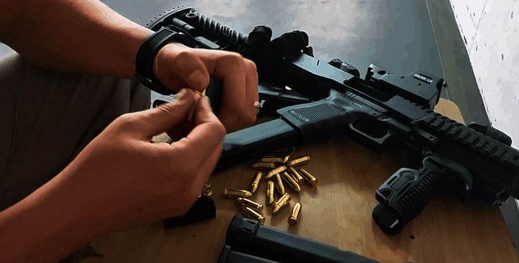"""Schießtraining """"Pistole - Glock 19 - 9mm Luger mit Schulterstütze und Rotpunktvisier"""" Rosenheim #Waffe #Pistole #Sport"""