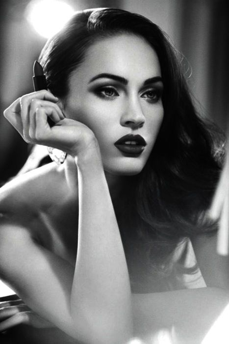 Megan Fox #ShaBoomProducts #BeautiesinBlackandWhite http://www.shaboomproducts.com