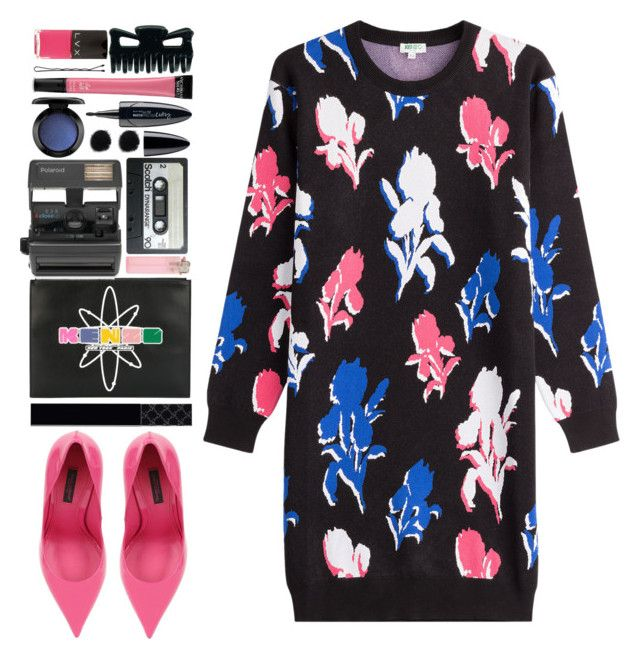 """""""#1046 Rosa"""" by blueberrylexie ❤ liked on Polyvore featuring Maybelline, Kenzo, Impossible, Dolce&Gabbana, Victoria's Secret, Gucci, MAC Cosmetics and LVX"""