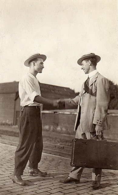 "Recently found companion card to ""Two men down at the depot, circa 1910."" Click on photo for more info. by boobob92, via Flickr"