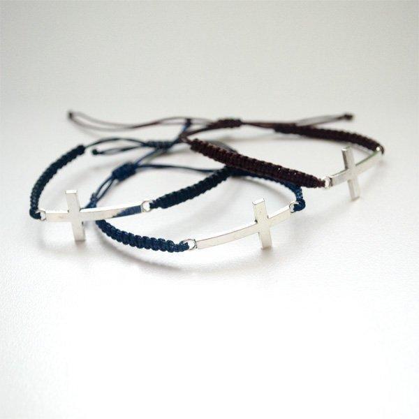 Thin Cross Macrame Bracelet