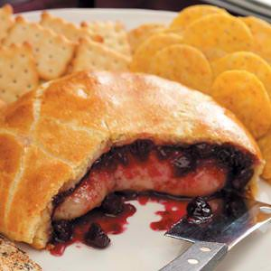 Bleeding Heart Brie Recipes  Ingredients  1 tube (8 ounces) refrigerated crescent rolls  1 round (8 ounces) Brie cheese  1/3 cup cherry preserves  1 egg, lightly beaten