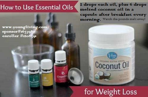 One girl lost 6 pounds the first week and 5 the next just by doing this and increasing her water intake!!!!  www.youngliving.com sponsor#1637980 enroller#1208591