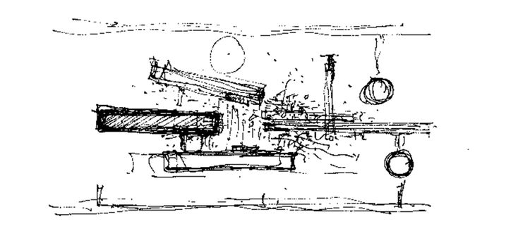 A Place of Meaning | Assemble Papers by Sara Savage. Sketch of Studio Mumbai's Palmyra House (2007) in Nandgaon. Courtesy Studio Mumbai.