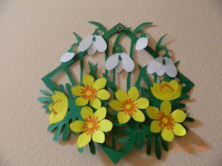 Idei Fermecate: ornament de perete sau geam din hartie