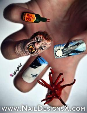 fun nail art for Halloween - Nail Designs & Nail Art