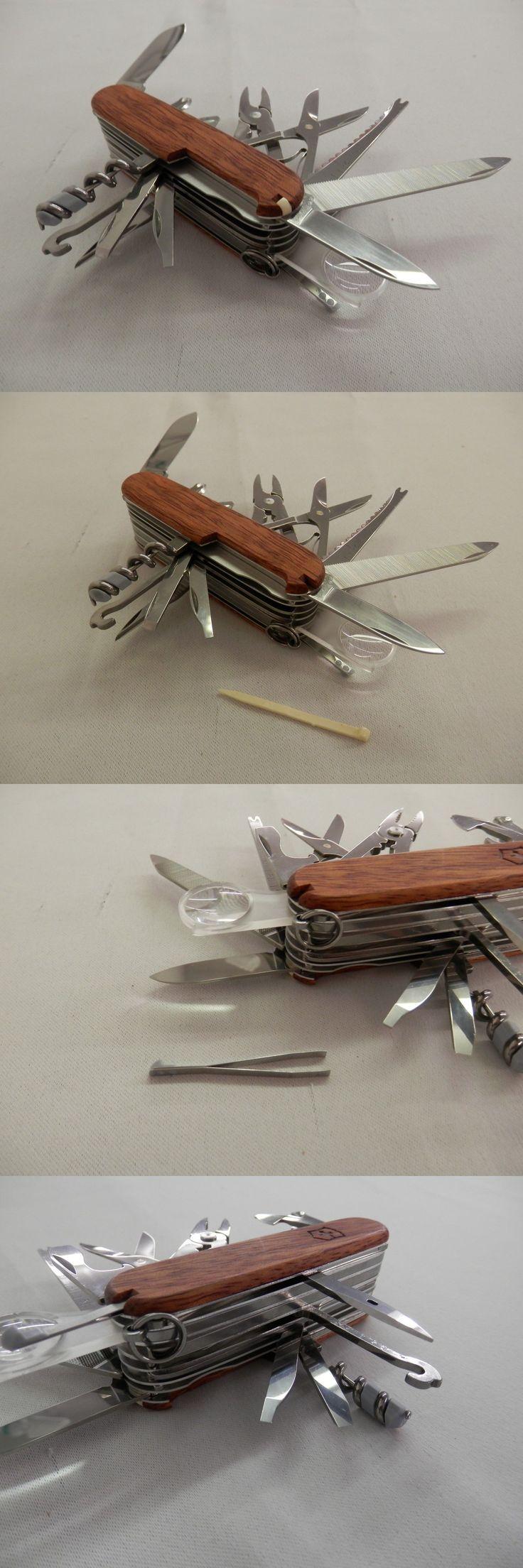 Pocket Multi Tools 75236: Victorinox Swiss Army Swisschamp Pocket Knife, Hardwood -> BUY IT NOW ONLY: $74.99 on eBay!