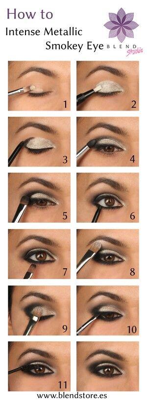 Steps to metallic Smokey eye