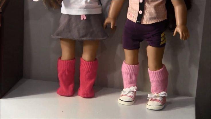 how to make american girl doll socks