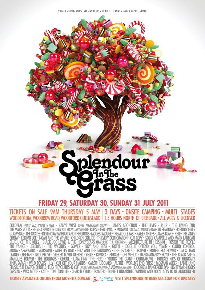 Splendour In The Grass 2011. Event Poster. Design by Mathematics www.xy-1.com