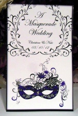 Masquerade Wedding Invitations                              …