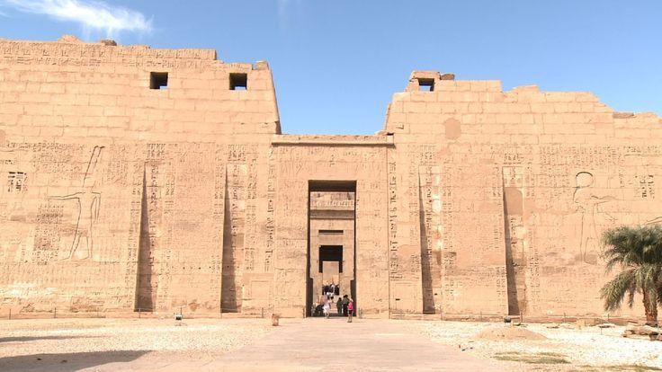 [世界遺産]エジプト,ルクソール,ラムセス2世、ラムセス3世葬祭殿/Egypt,Luxor